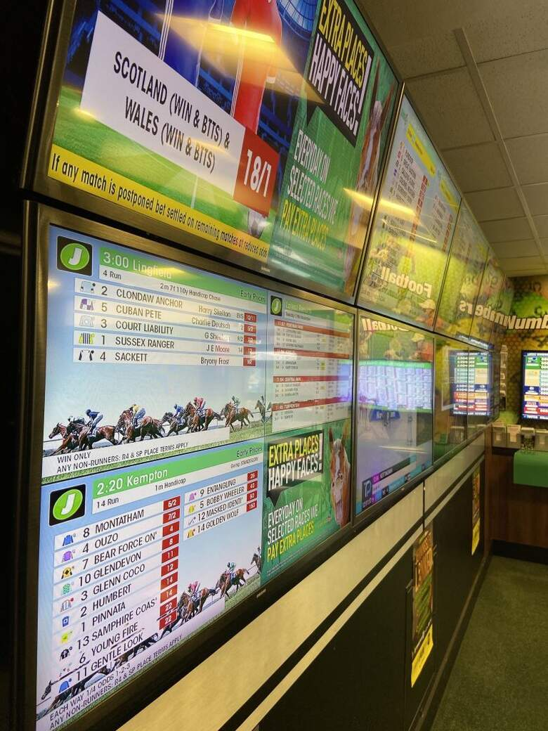 Betting Shop Screens